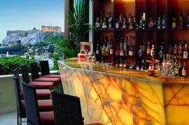 屋上のレストランバー,Hotel Grande Bretagne
